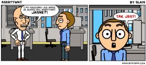 Komiks utworzony w serwisie bitstrips.com